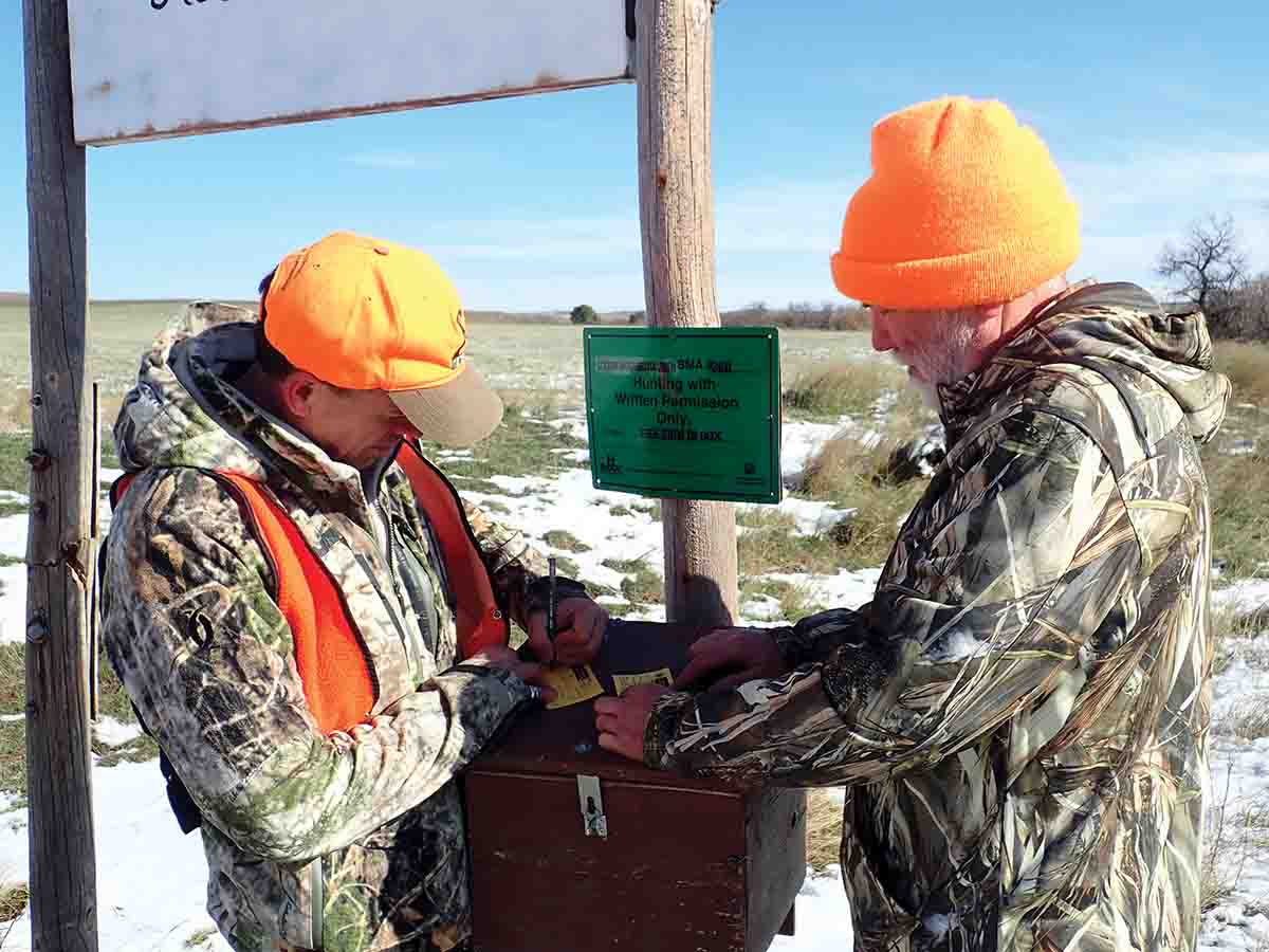 Montana's Block Management program opens private land to public hunting. Access to some properties simply requires signing in at a box.