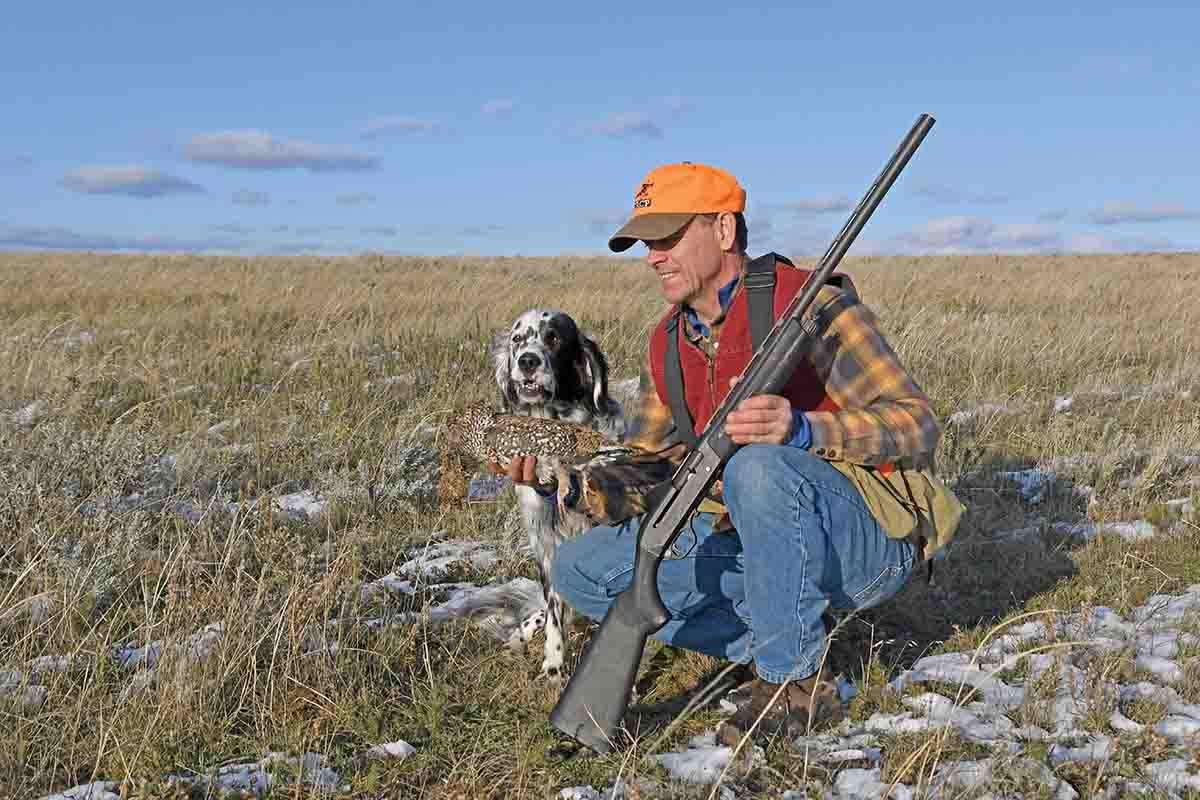 The hunters used their spare time to hunt sharptails and waterfowl.