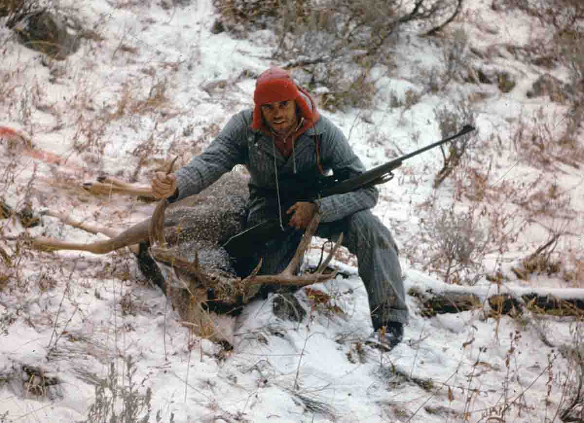 One of the exceptional bucks taken from the Ballard camp in the early 1960s. Unsustainable harvest on mature bucks and habitat changes quickly diminished the number and size of breeding-age bucks.