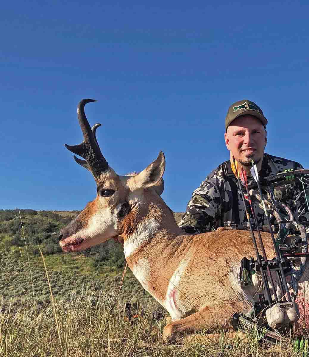 Thomas Grill did his homework to help him fill his Wyoming antelope tag on a great public land buck on the first day of the season. Scouting new ground and practicing with his bow helped the seasoned hunter find a heavy-horned buck to put his tag on.