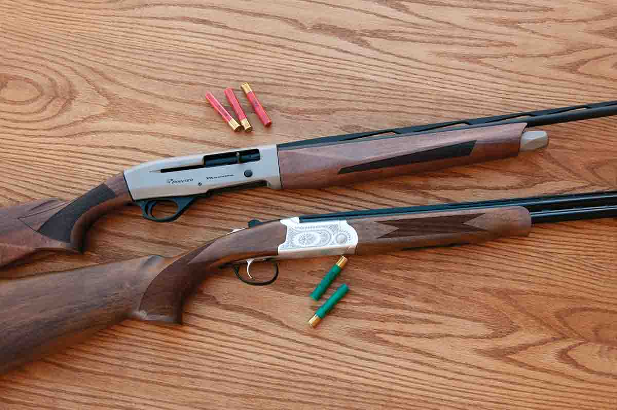 Lee's friend Andy used a Phenoma .410 loaded with Federal Heavyweight TSS ammunition to bag several gobblers last season. The Phenoma and Arista over/under are both nice .410s at a reasonable price. Both test samples featured Turkish walnut stocks and forends.