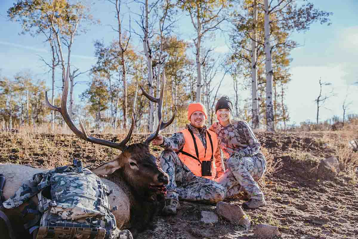 Darron and his wife, Becca, always cherish every elk hunt they do together. This one was extra special because they got to hunt somewhere new.